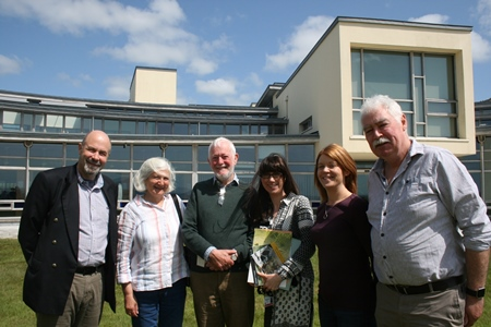 Dr Jeffery Fisher, Director of Marine, Environment and Food Safety Services, Sylvia and Dr Juilian Reynolds, Stephanie Ronan, Marine Institute Librarian, Teresa Morrissey, Marine Institute and Ger Rogan, Marine Institute and a past student of Dr Reynolds. Pic Cushla Dromgool-Regan