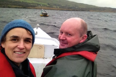 Dr Elvira DeEyto and Joe Cooney, both Marine Institute working on research on Lough Feeagh, Newport, Co Mayo, Ireland.