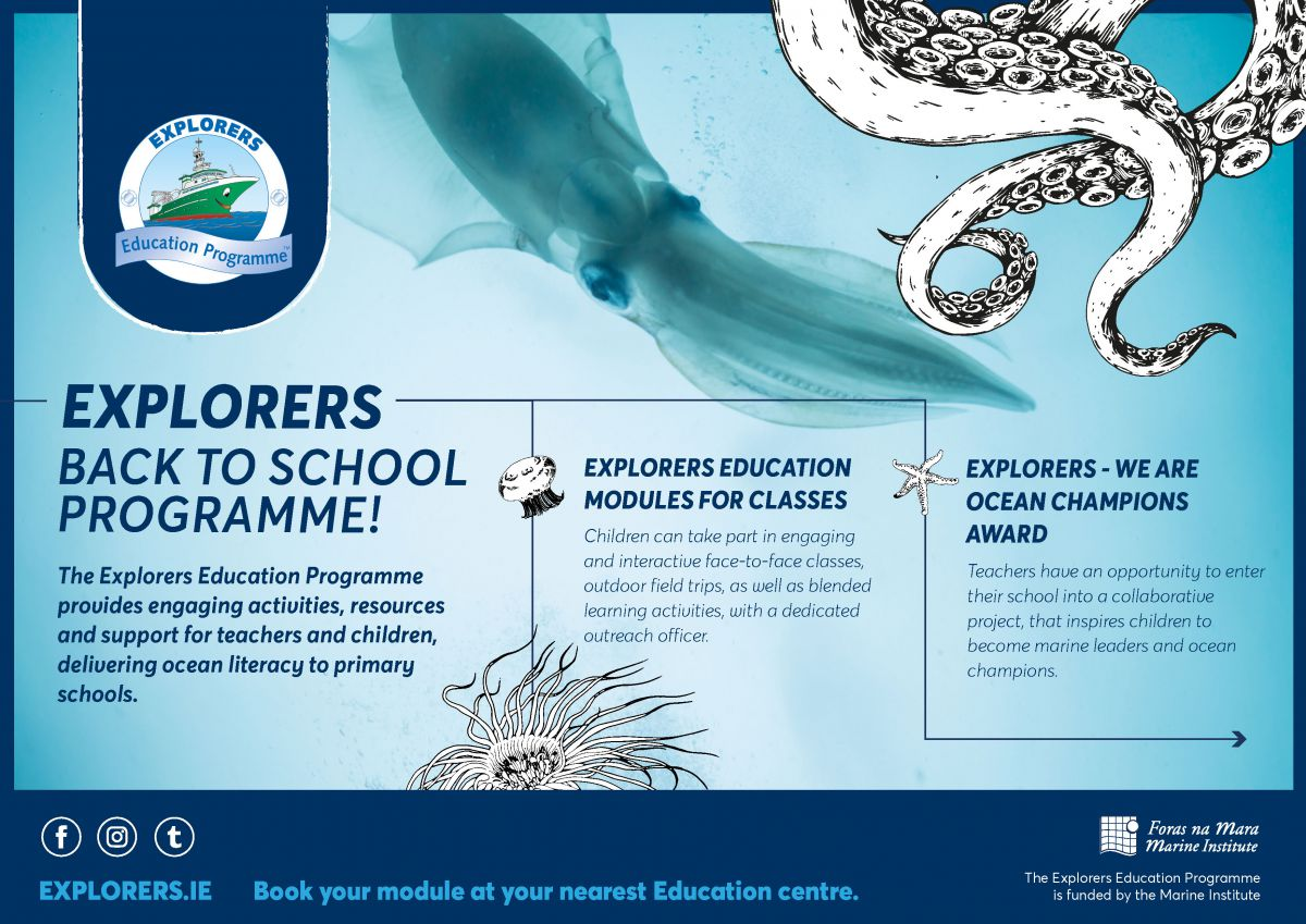 Explorers Education Programme Expands to all Coastal Counties with a Strong Marine Outreach team