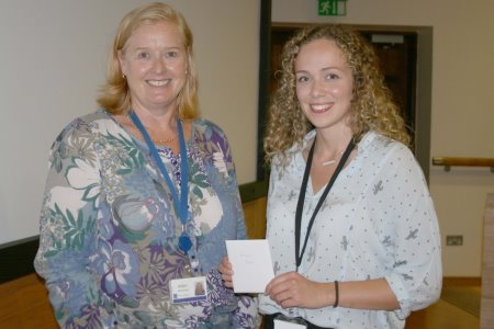 Helen McCormick presenting 1st prize to Signe Martin