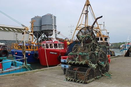 Fishing boats and fishing gear, Wicklow Harbour. Photo Credit CoastMonkey Photography.