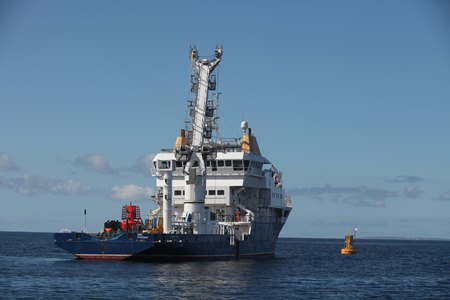 Galway Bay Ocean Observatory Completed. ILV Granuaile. photographer Aengus McMahon Photography