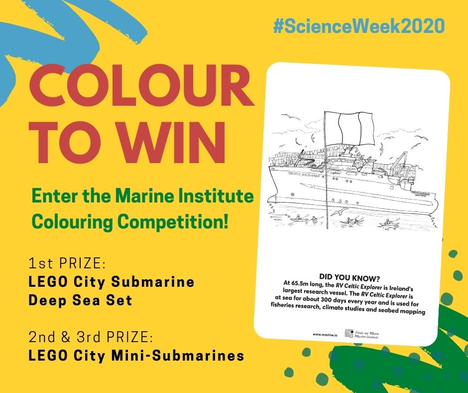 RV Celtic Explorer colouring competition.