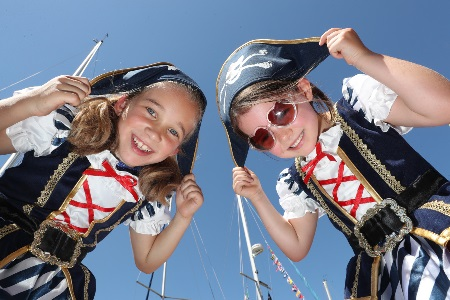Amy Sarma and Seren Flavin at SeaFest. Picture Jason Clarke
