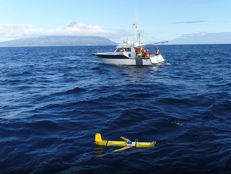 Glider launched in The Azores, Portugal.