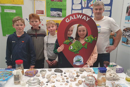 Peter Kanes class from Kilglass National School presents climate change project at GSTF. Photo Cushla DromgoolRegan