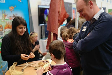 Explorers team at Galway Science and Technology Festival 2019. Photo Garry Kendellen