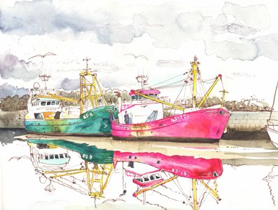 """Image 2: """"The change in weather has been affecting the seed – we have had very little this year."""" Mussel fisherman, Bangor, Wales. By Róisín Curé"""