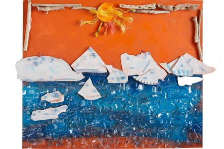 'It's Getting too Hot' Completed artwork by Scoil Realt na Mara, middle classes, Kilkee – Photo credit: Mike Mulcaire