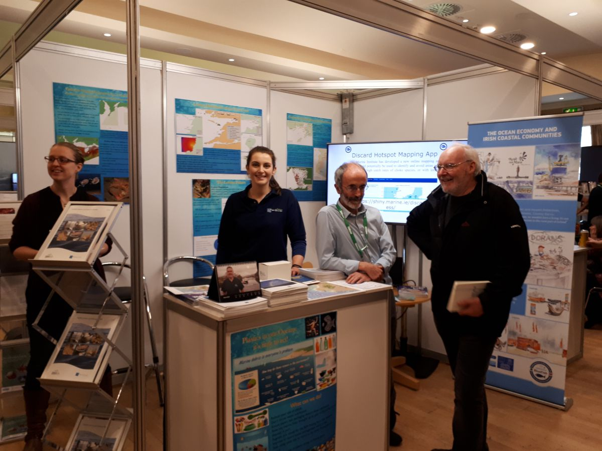 Julia Calderwood, Sharon Sugrue and Oliver Tully at the Irish Skipper Expo, held at Galway Bay Hotel on 8th – 9th March 2019.