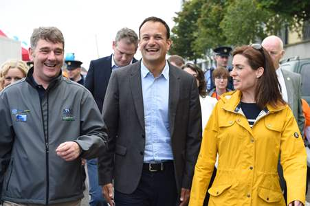 Dr Peter Heffernan, CEO Marine Institute, Taoiseach Leo Varadkar, TD and Hildegarde Naughton, TD out and about at SeaFest today. Photo Andrew Downes, XPOSURE