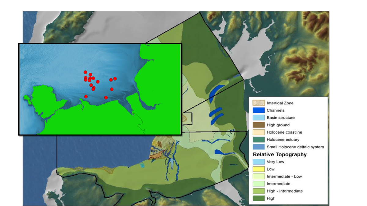 Coring positions in Liverpool Bay