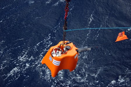 One of the 18 seismometers been deployed - Loch Ness Mometer