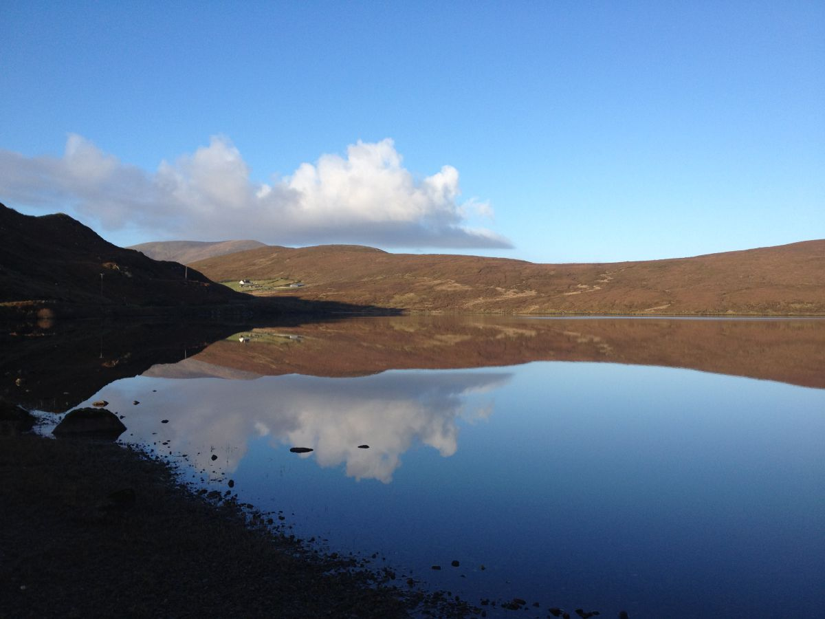 Lough Bunaveela, Co. Mayo, one of the few remaining Irish lakes with an arctic charr population. Photo credit Mary Dillane