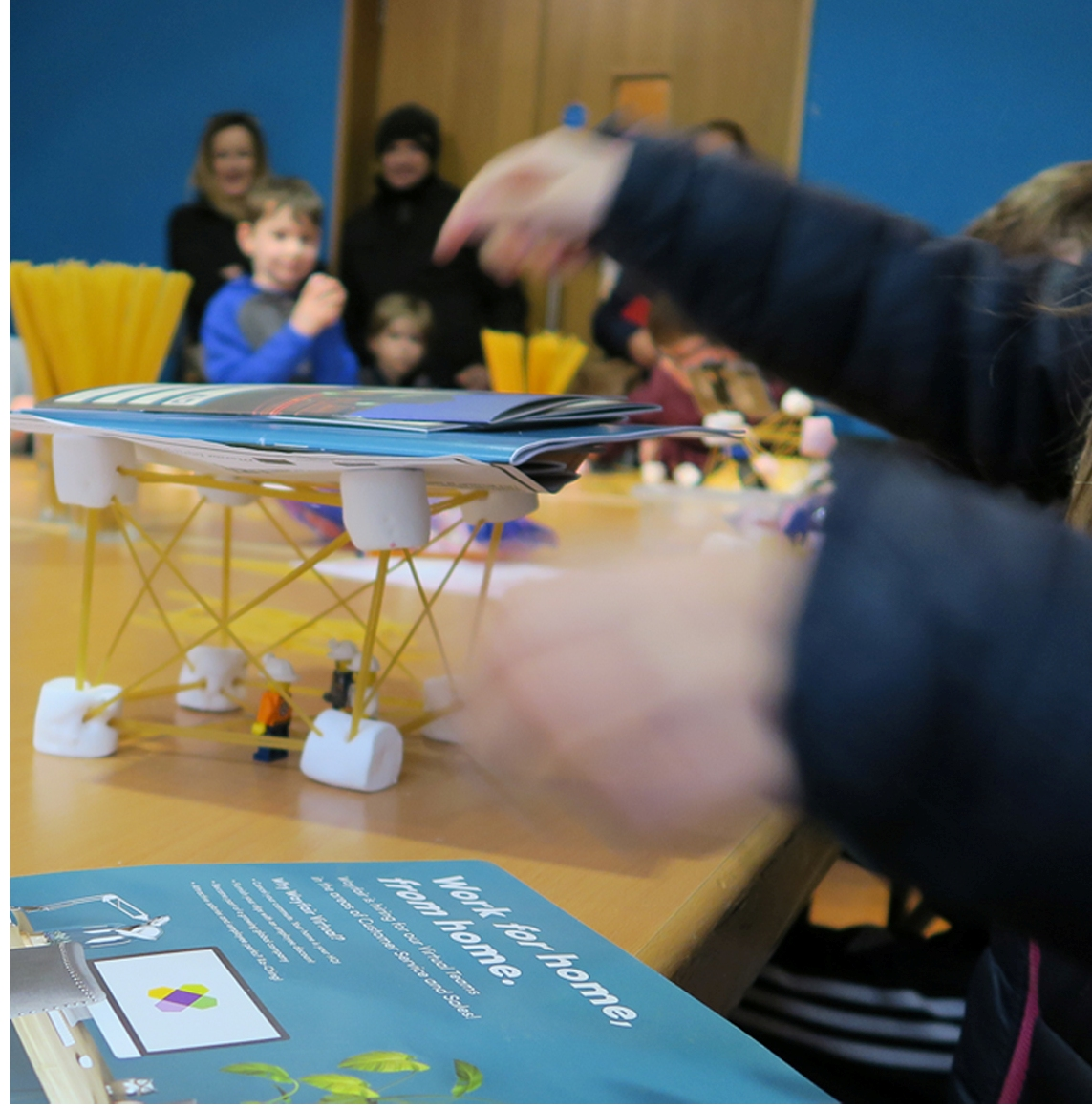 The Marine Institute, SmartBay, Galway Atlantaquaria and Galway City Museum hosted a fun 'Pasta Pressure' using pasta and marshmallows to demonstrate engineering at the Engineering workshop_photo Galway Atlantaquaria