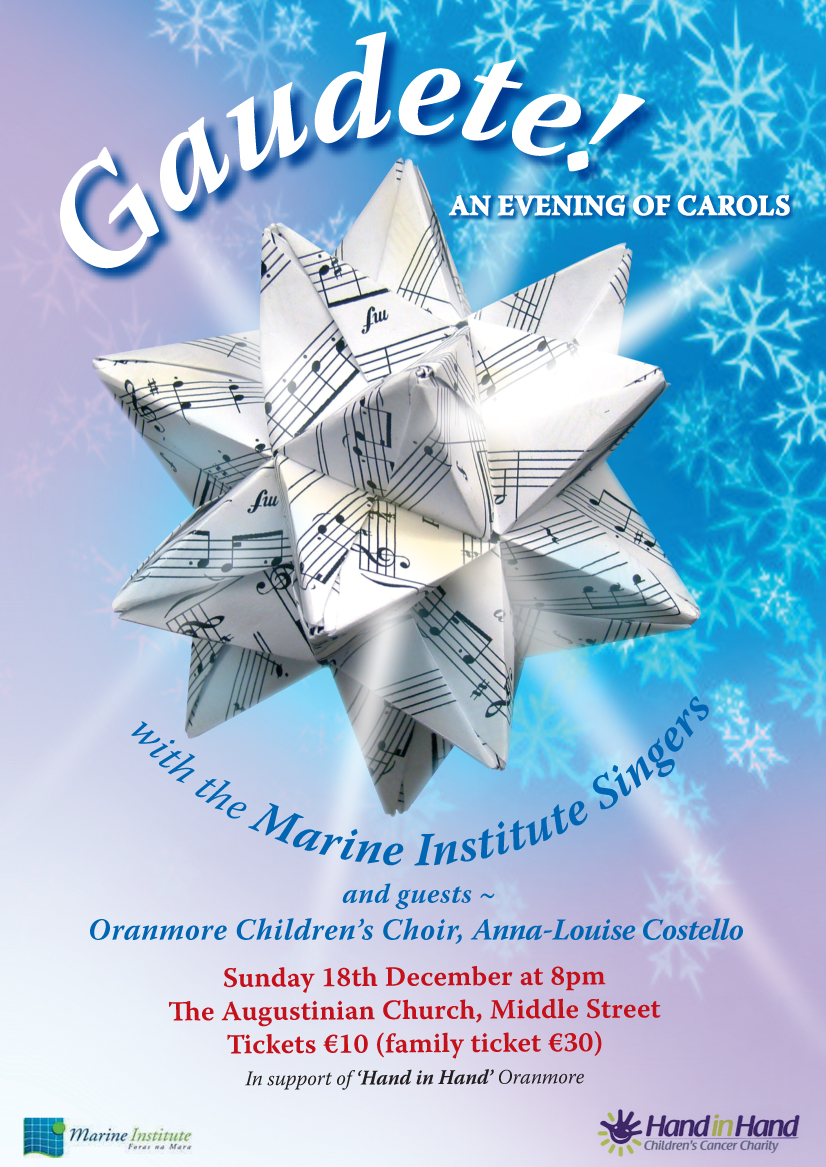 Marine Institute Singers Present Concert of Christmas Carols and Seasonal Songs, Augustinian Church 8pm Sunday 18th December