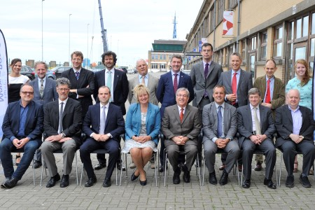 Commissioner Vella pictured with CEOs of European Marine Board member institutes.