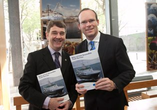 Groundfish Survey Minister Coveney and Peter Heffernan