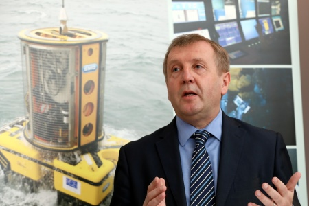 Repro Free: Wednesday 22nd November 2017. Pictured at the Marine Institute's announcement of funding grants totalling €3.3 million was the Minister for Agriculture, Food and the Marine, Michael Creed, TD, the funding grants which are being made in two research areas – Specialist Marine Equipment and Ocean Law and Marine Governance. Picture Justin McInness