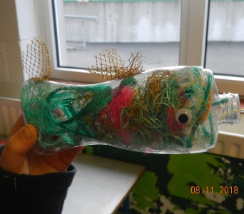 #4 'More Plastic than Fish by 2050' part of large multi-school installation Photo Credit: Carmel Madigan