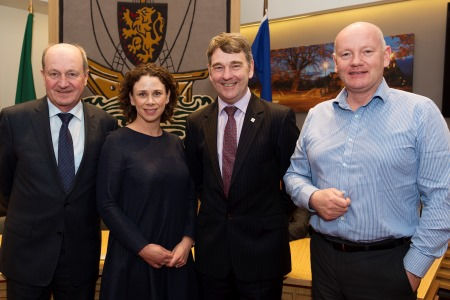 4.Eamon Bradshaw Chief Executive Port of Galway, Catherine McConnell Director of Services – Planning Galway County Council, Dr Peter Heffernan CEO Marine Institute and Captain Brian Sheridan Galway Harbour Master.