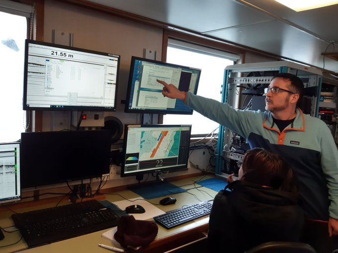 As part of the INFOMAR Msc module, Oisin McManus of INFOMAR / Marine Institute explains how to use the scientific equipment in the dry laboratory on the RV Celtic Voyager in February 2020.