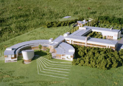 Model of Marine Institute Headquarters at Oranmore.