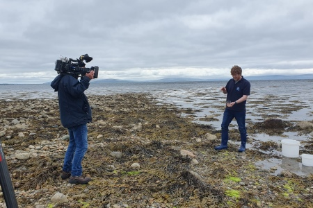 Padraic Creedon, Explorers outreach officer based at Galway Atlantaquaria in Galway is filmed while preparing activities that will be provided as part of the Explorers CPD teachers training course in July 2021.