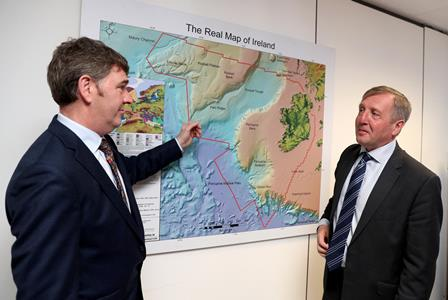Dr Peter Heffernan CEO Marine Institute and Minister Creed. Photo Jason Clarke