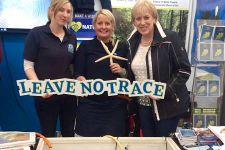 Explorers Education Programme and Leave No Trace at the 2017 Ploughing Championships. Minister Ring and Minister Humphreys both visited the stand congratulating the team on the display and educational resources that were present.