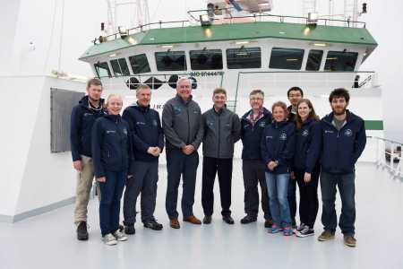 Irish led international team complete climate survey of the Atlantic, along with the Canadian Ambassador to Ireland Kevin Vickers and Peter Heffernan, CEO Marine Institute. Photo Andrew Downes, Xposure