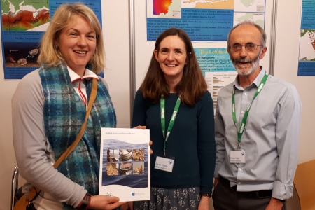 Roni Hawe from DAFM, Marine Programmes Division, Sarah Clarke and Oliver Tully of the Marine Institute