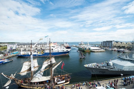 Irish naval ship, marine research vessels and the tall ship 'The Phonenix' will be on display in Galway Harbour for SeaFest 2017. Photo Andrew Downes, Xposure.