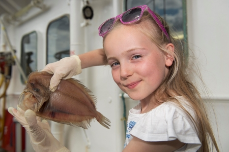 The Cork Educate Together National School visited the Marine Institute's RV Celtic Explorer in Galway on their school trip as part of the Sea for Society (FP7) initiative. Photo: Andrew Downes: XPOSURE
