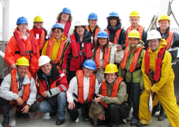 Science at Sea students on deck