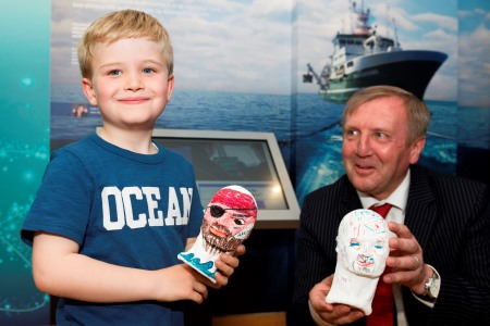 "Birthday boy Hugo Johnston, 7 today Friday explores Ireland's first ""Sea Science - the Wild Atlantic"" at Galway City Museum during its official launch by Michael Creed TD Minister for Agriculture, Food and the Marine. ""Sea Science - the Wild Atlantic"" is a free exhibition and is a partnership between the Marine Institute and Galway City Museum. Photo:Andrew Downes, xposure"