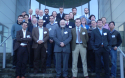 """EU MarinERA Workshop  participants  """"New Developments in Marine Sensor Technologies: Opportunities and Challenges"""" 26th March 2009 pictured in front of the National Centre for Sensor Research (NCSR) at Dublin City University (DCU)."""