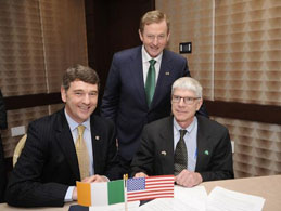 Dr. Peter Heffernan, CEO Marine Institute, Taoiseach Mr. Enda Kenny, Dr Henry  Kelly, Assistant Secretary, US Department of Energy