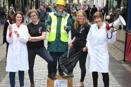 International event 'Soapbox Science' comes to Galway for the first time featuring participating scientists from NUI Galway, GMIT, Marine Institute and IT Sligo to promote the visibility of women in science.