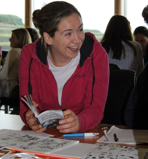 Back in the classroom, Sarah Fox, St. Brendans Nation School, Loughrea uses seashore guides to identify some of the species found on the beach as part of Explorers Teacher Training Workshop 2015 run by the Marine Institute and Galway Atlantaquaria