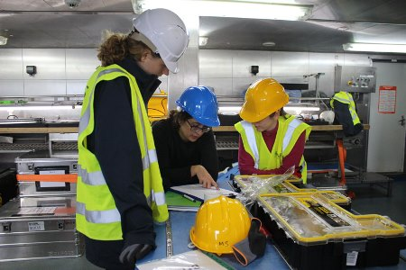 Some of the SEA-SEIS team at work