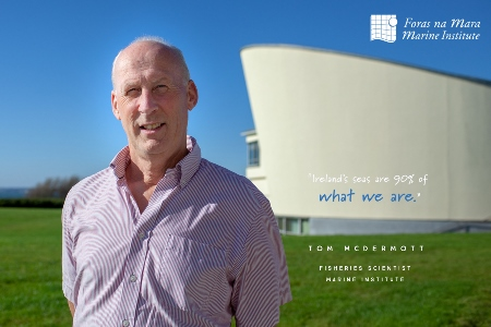 Faces of the Sea – Tom McDermott, Fisheries Scientist at Marine Institute. Photo Cr Wonky Eye Photography.