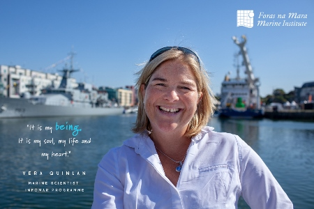 Faces of the Sea – Vera Quinlan, Hydrographer with the INFOMAR Programme. Photo Cr Wonky Eye Photography