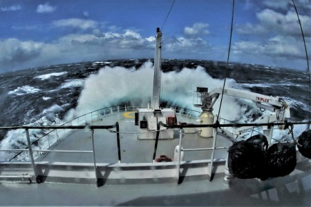 Highlighting World Oceans Day: Stormy seas captured by Tomasz Szumski, Marine Institute, on the recent GO-SHIP Survey – an Irish led international team carried out a 'health check' of the Atlantic Ocean on the national research vessel, RV Celtic Explorer, between St. John's Newfoundland and Galway April-May 17.