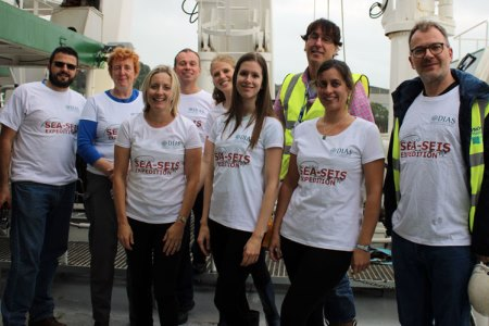 The SEA-SEIS team onboard the RV Celtic Explorer