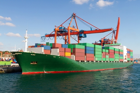 Shipping, Maritime and Ports. Big Stock Image