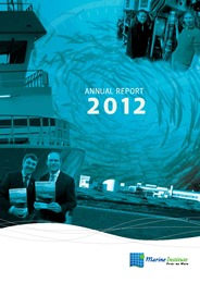 Link to the Marine Institute's 2012 Annual Report in English on OAR