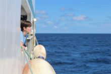 Artist Carol Anne Connolly on the Marine Institute's RV Celtic Explorer