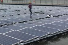 100kWp Floating Solar Energy Plant. Photo courtesy of Upsolar Floating Srl.