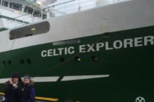 Aoife Muldoon and Emily Egan St  Brigid's Vocational School Loughrea get to see the work that takes place on the RV Celtic Explorer